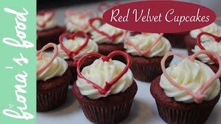 Mini Red Velvet Cupcakes  fiona&#39s food