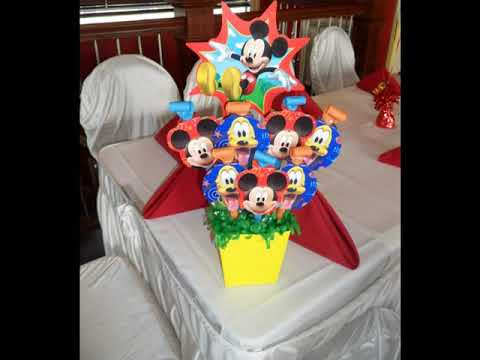 PARTY 80 Mickey Mouse 2nd Birthday Party Balloon Decorations