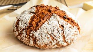 НАСТОЯЩИЙ хлеб БЕЗ ДРОЖЖЕЙ Самый Быстрый и Простой рецепт Хлеба в Духовке