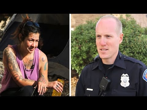 Cop Spots Homeless Addict About To Shoot Up, Sees Her Tummy And Makes Offer She Can't Refuse