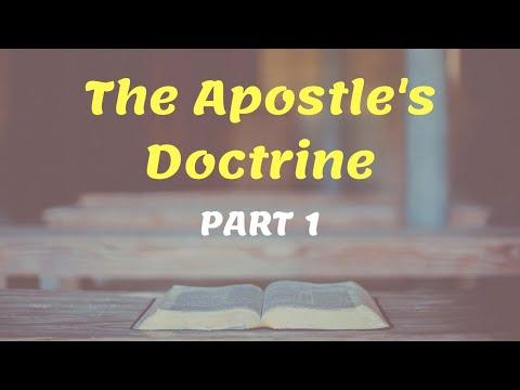 The Apostle's Doctrine - Part 1 (English-Hindi) || Godwin Sequeira