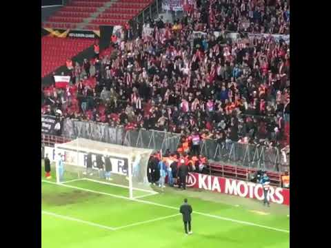 Slavia Praha HOOLIGANS vs stewards in Copenhagen! 25-10-2018