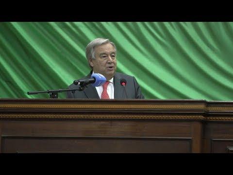 Discours d'Antonio Guterres à l'Assemblée nationale