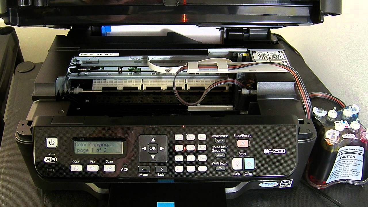 Ciss Continuous Ink System For Epson Wf 2530 Youtube