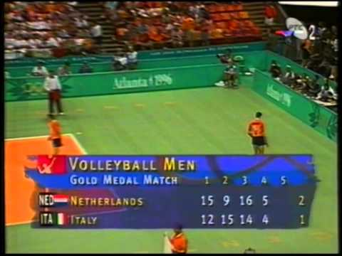 1996 Olympic Games Volleyball Netherlands - Italy set 4