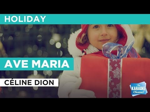 Ave Maria in the style of Céline Dion | Karaoke with Lyrics
