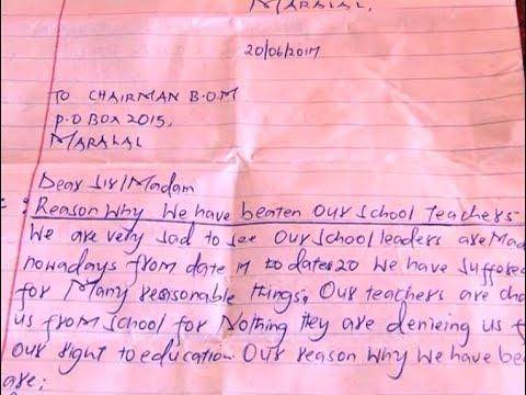 Class six pupils cane teachers and parents at Kirimon primary school Samburu East