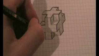 How to draw a 3D-cross