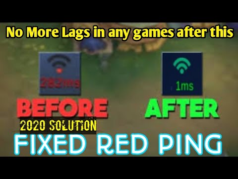 How To Fix High Ping In ML, PUBG, COD And Any Games 2020 | Step By Step With Clear Tutorial