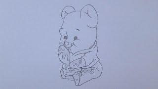 Como desenhar o Ursinho Pooh
