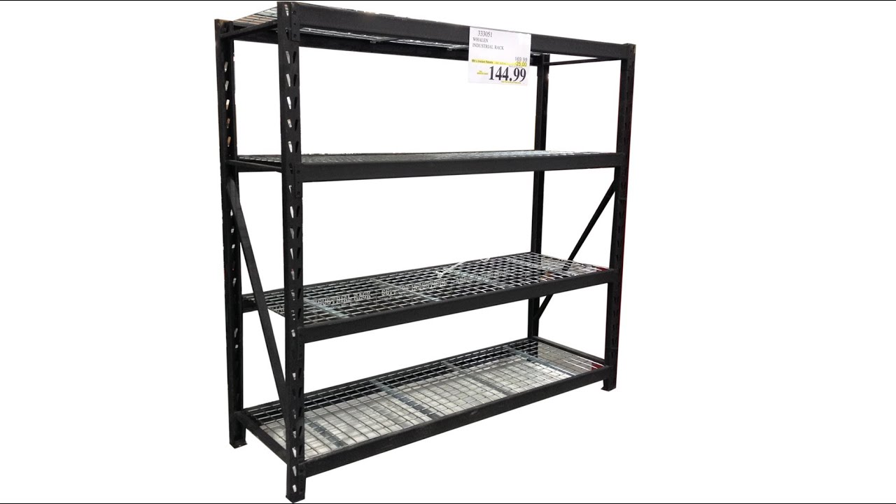 Costcou0027s Industrial Storage Shelf Rack Review   YouTube