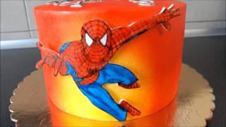 Spiderman airbrushed cake / Tort Spiderman malowany aerografem