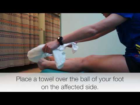 NUH Physiotherapy Calf Stretch with Towel