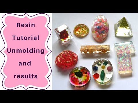 Resin tutorial for beginners : unmolding results