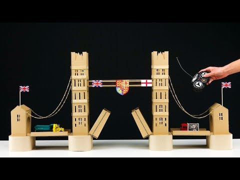 How To Build RC Bridge From Cardboard At Home