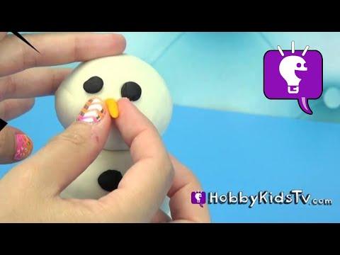 How to Make Play-Doh Snowman with Queen Elsa [Disney] [Frozen] by HobbyKidsTV