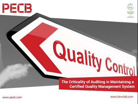 The significance of auditing in maintaining a certified ISO 9001
