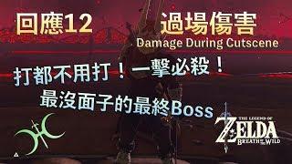 【薩爾達傳說−曠野之息】回應12 - 一擊必殺最終Boss!「過場傷害(Damage During Cutscene)」(有聲解說)