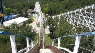 Screaming Eagle Front Seat on-ride HD POV Six Flags St. Louis