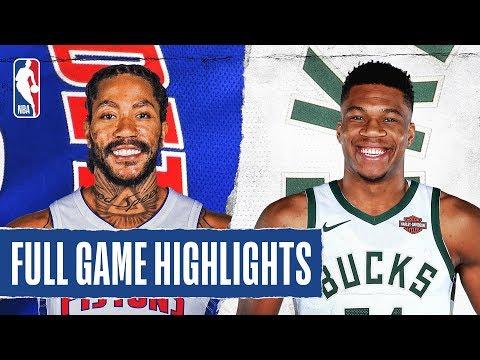 PISTONS At BUCKS | FULL GAME HIGHLIGHTS | November 23, 2019