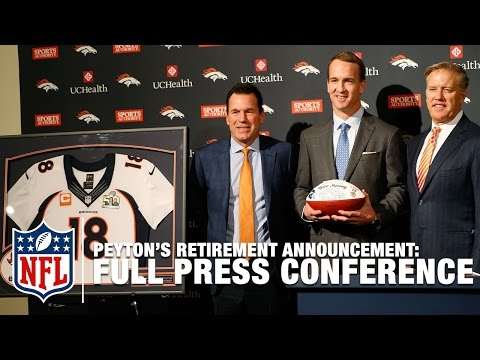 Peyton Manning Retirement Press Conference (Full) | NFL News
