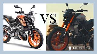 YAMAHA MT 15 VS DUKE 125 │TAMIL │ Naked bikes │ Full specification comparsion