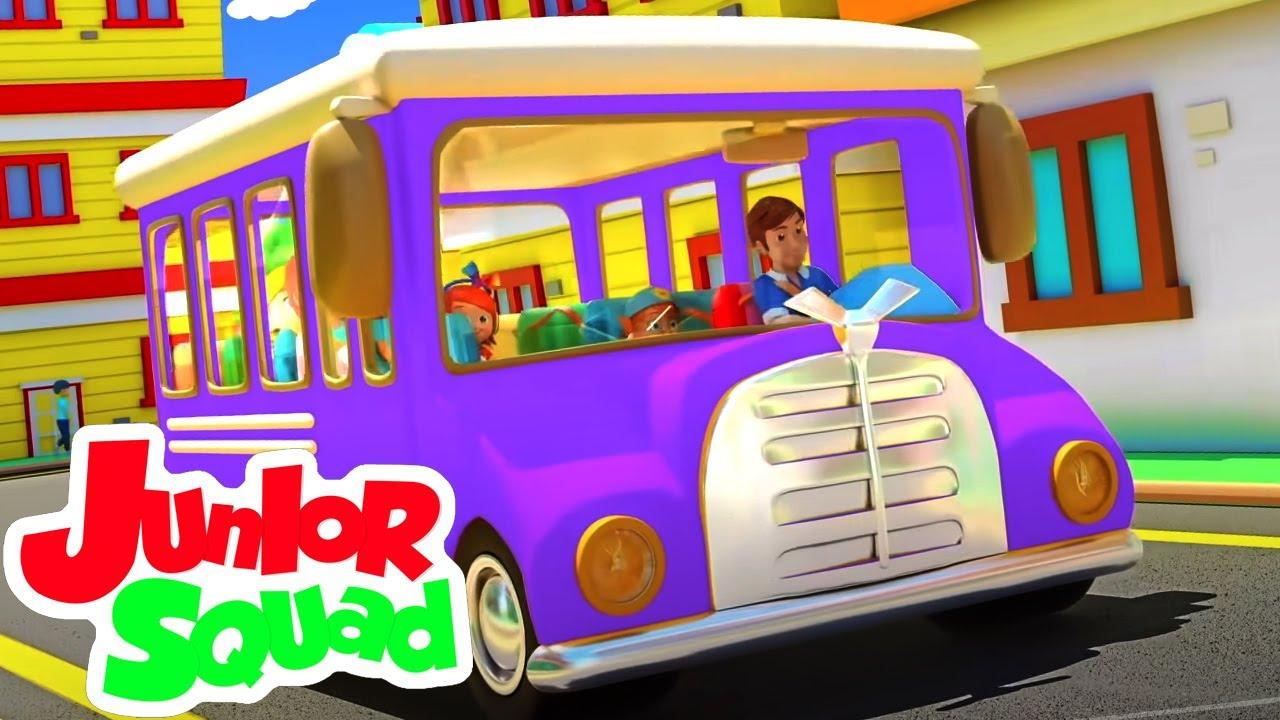 العجلات على الحافلة | مقاطع فيديو تعليمية | Junior Squad Arabic | مرحلة ما قبل المدرسة