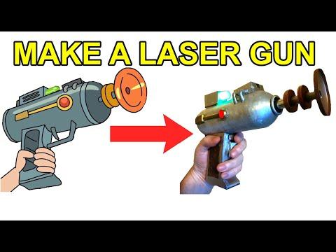 Make a Rick and Morty Laser Gun (that burns stuff!)