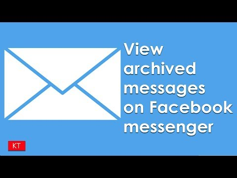 How to view archived messages on Facebook messenger - YouTube