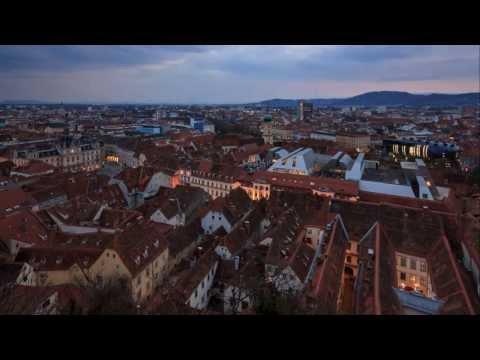 Graz Day to Night Timelapse