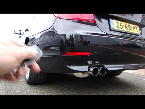BMW E60 545i CUT OUT EXHAUST SOUND KLEP SYSTEEM SPORTUITLAAT   UITLAAT by MAXIPERFORMANCE  nl