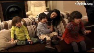 Araitz, Ixone y Unai, 3 hermanos con síndrome de San Filippo