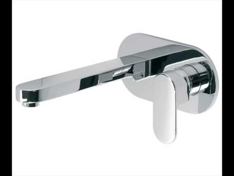 Wall Mounted Basin Taps Bathroom Grohe - YouTube