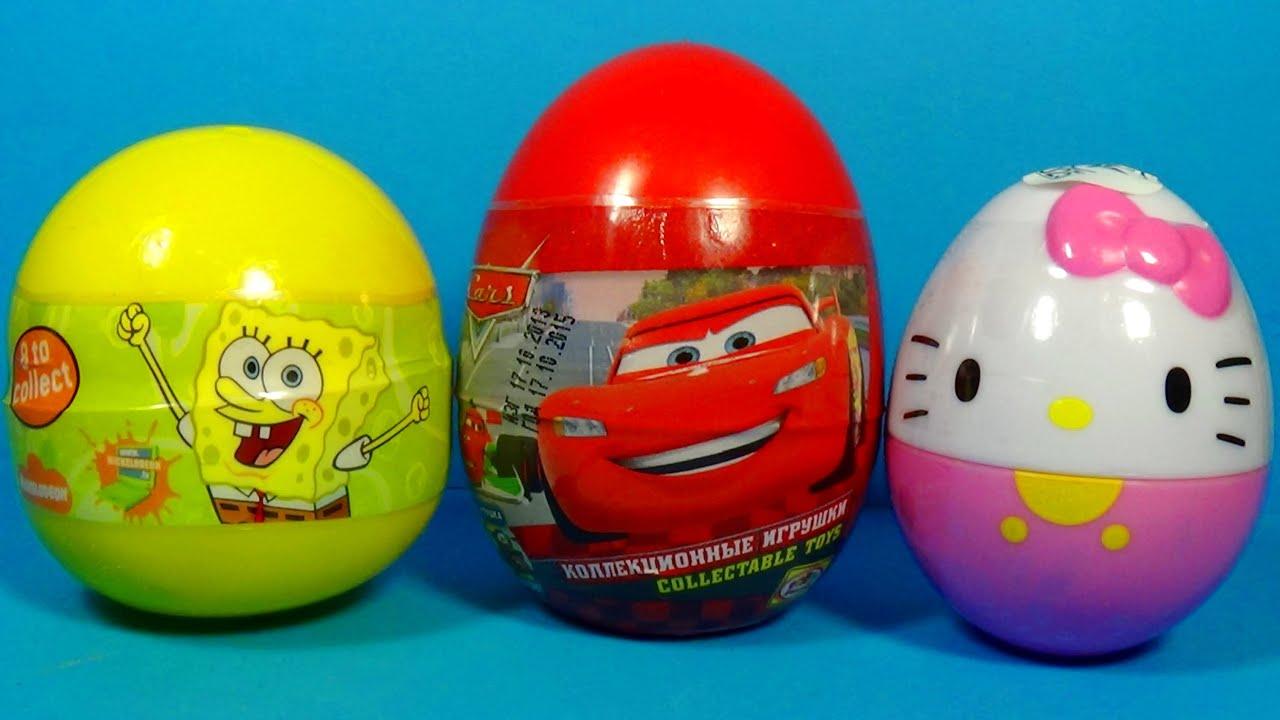 disney pixar cars surprise egg hello kitty surprise egg spongebob surprise egg for kids for baby