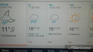 Clima del tiempo extendido Tijuana/San Diego/16,17,18 feb 2017