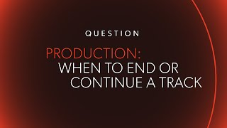 When Should You Continue Or End A Track @ www.OfficialVideos.Net