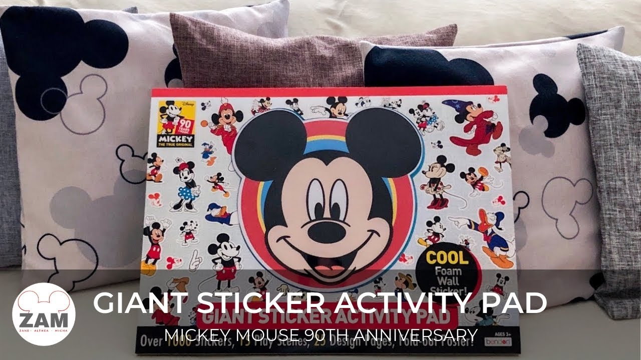 Mickey mouse 90th anniversary giant sticker