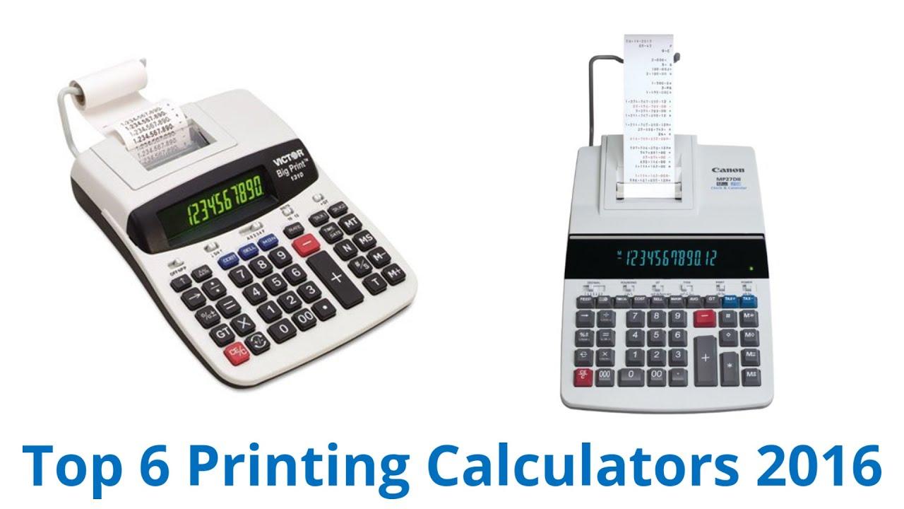 6 Best Printing Calculators 2016