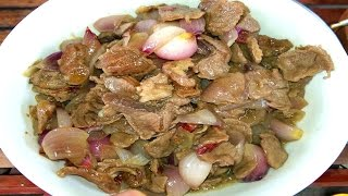 Red Onion Beef, Country Food In My Village - Khmer Traditional Food