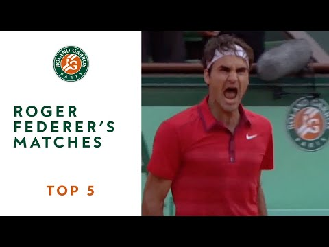 Thumbnail: Top 5 moments at Roland Garros: Roger Federer's matches
