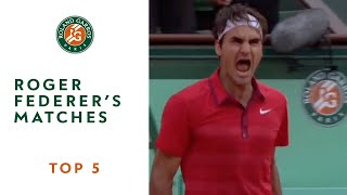 Top 5 moments at Roland Garros: Roger Federer