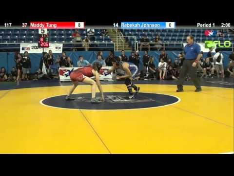 Pool B 117 - Maddy Tung (California #2) vs. Rebekah Johnson (Hawaii)