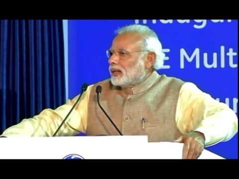 Prime Minister Narendra Modi inaugurates the GE Multi-Modal Facility in Chakan, Pune