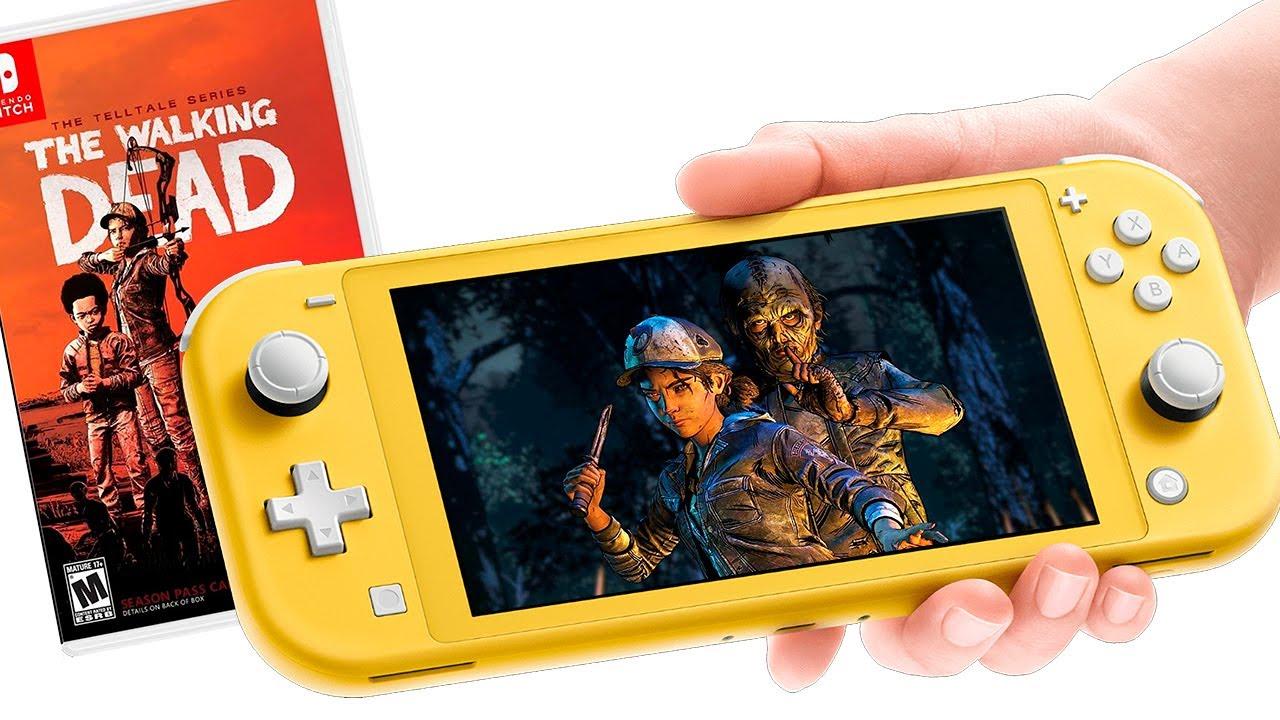 The Walking Dead Final Season Gameplay on Nintendo Switch LITE