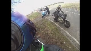 Big motorbike crash  2 near miss crashes  Dangerous roads! Loud bikes!