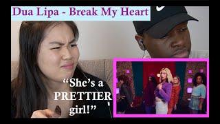 Dua Lipa - Break My Heart [REACTION] | Breakfast Mukbang