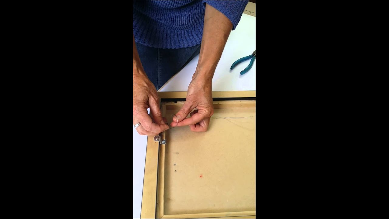 How To Properly Knot Picture Frame Wire Youtube