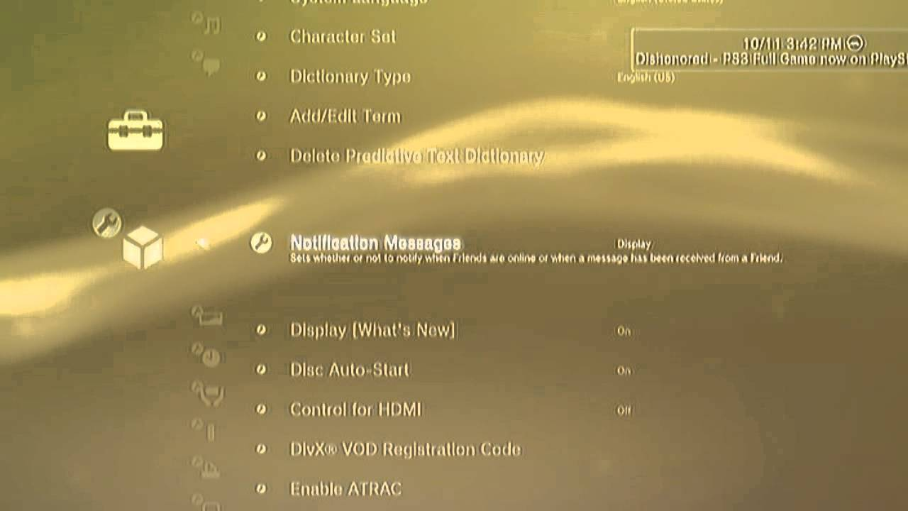 how to delete messages off ps3