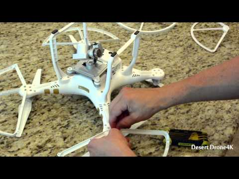 DJI Phantom 3 Professional Prop Guard Install & Crash Test