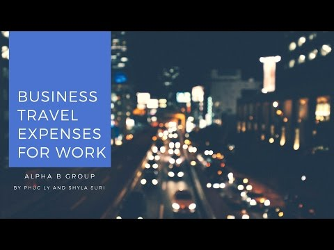 Business Travel Expenses for Work